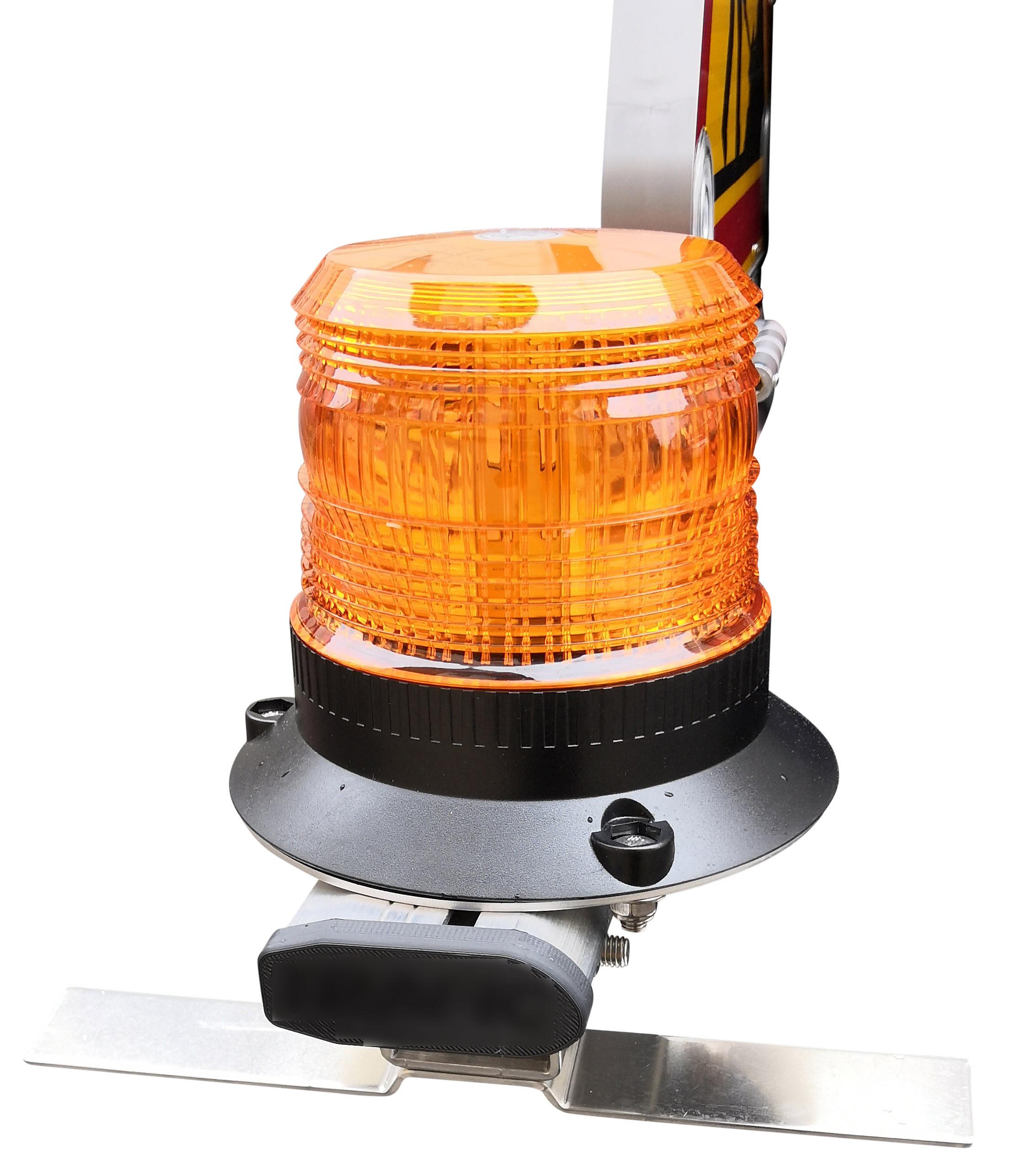 barre équipée triflash led 500mm classe A ou B ACI avec gyrophare