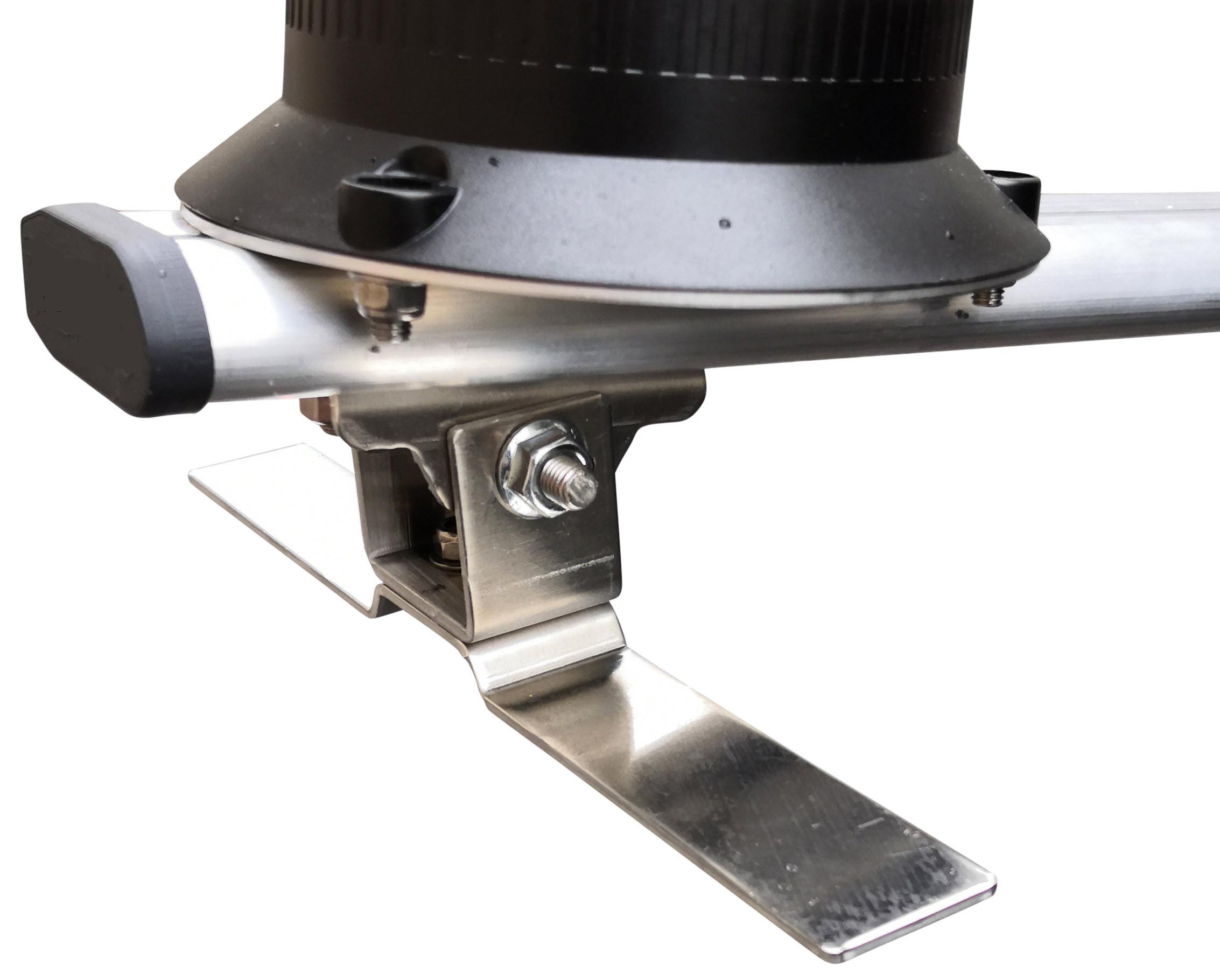 barre signalisation triflash équipée fixation à coller